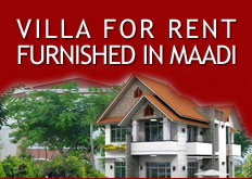 Villa For Rent Furnished in : Maadi Digla | Maadi Old | Maadi Cornish | Zahraa El Maadi | New Maadi | Maadi