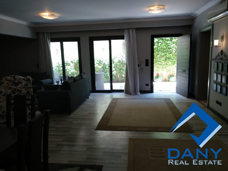 Residential Ground Floor Apartment For Rent Furnished in Lake View - Great Cairo - Egypt